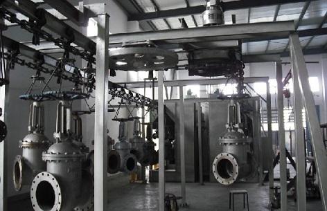 valve coating line