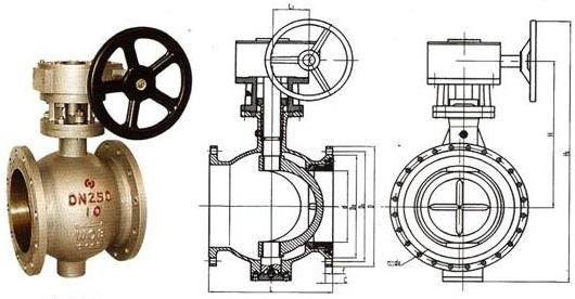 single-flow-direction-c-eccentric-ball-valve-and-drawing