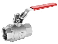 stainless steel 2 piece ball valve