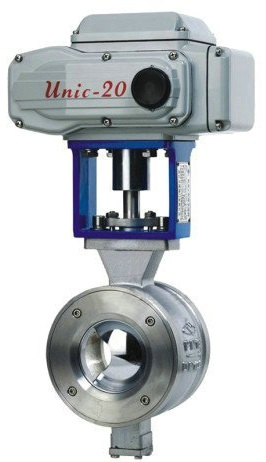 unidirectional-flow-v-port-ball-valve-pneumatic-driven