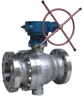 cast steel trunnion mounted ball valve