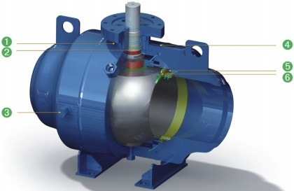 Design features of fully welded trunnion ball valve BW