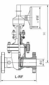 Drawing of Gear Op. 600LB&900LB Gate Valve