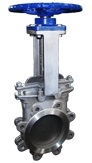 handwheel operated knife gate valve