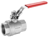 Stainless steel 2 piece ball valve, heavy type, 1000 wog.