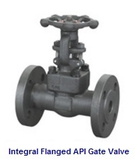 Integral Flanged API 602 Gate Valve