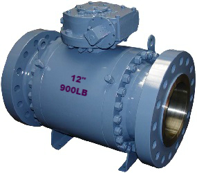 "Metal seated trunnion ball valve, 12"" 900LB"