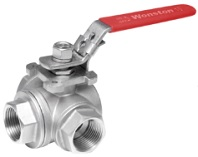 ss 3 way ball valve with common mounting pad