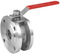 ss conventional type DIN wafer ball valve