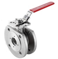 ss wafer ball valve DIN PN16/ PN40 with mounting pad