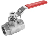 Stainless steel 2 piece ball valve, 2000 wog.