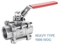 heavy type stainless steel 3 piece ball valve