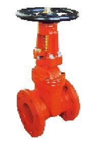 AWWA C509 resilient seat OS&Y gate valve.
