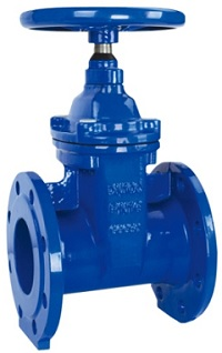 BS5163 resilient seat non rising stem gate valve.