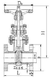 Drawing of 10K OS&Y gate valve.