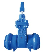 Socket end resilient seat gate valve.